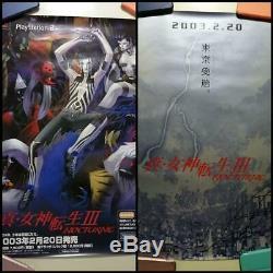 Shin Megami Tensei 3 Affiches Deux Ensemble Kazuma Kaneko Dédicacé Pas À Vendre