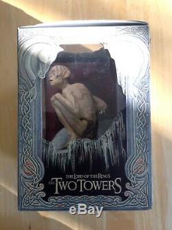 Sideshow Weta Seigneur De La Figure Gollum Anneaux Maintenant Avec Coffret DVD Deux Tours