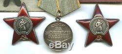 Soviétique Seconde Guerre Mondiale Deux Commandes Red Star Et Ww2 Médaille Set Pour Tankman Soviétique Su-76