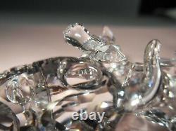 Swarovski Crystal Clear Cat Mère Debout 861914 Avec Deux Chatons 3 Pc Set