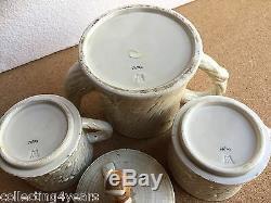 Tea For Two Vintage Owl Set Pot À Café Empilable Et Tasses Maison D'arbre Japon