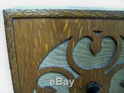 Vintage 1920 Britannique Cossor Radio Avec Haut-parleur, Deux Set Tube