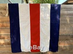 Vintage 1944 Signal Flags Maritime Naval USA Militaire Seconde Guerre Mondiale Ensemble De 7