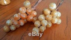 Vintage Albâtre Raisins Clusters Ensemble De Deux