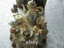 Vintage Enesco Tea For Two Music Set Avec Boîte Et Adaptateur Music Box