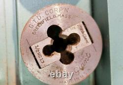 Vintage Greenfield Little Giant Two Piece Screw Plate Tap & Die Set, Orig. Box