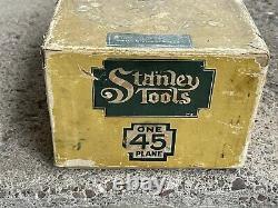 Vtg Stanley N ° 45 Plan Dans La Boîte Avec Des Papiers Rares Htf Deux Ensembles Blades Navires Rapide