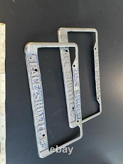 Vtg Utilisé Ensemble De Deux Années 60 70 Nasa Space Shuttle Team Member License Plate Frames