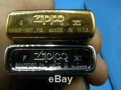 Zippo 1995 American Trains Grande Ensemble De Deux Brass Et Étain Mint En Boite